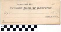 Image of Farmers Bank of Kentucky blank check