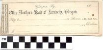 Image of Office Northern Bank of Kentucky blank check