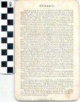 Image of memorial card, 1900