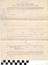 Image of Return for Special Tax, 1884