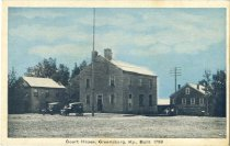 Image of Court House, Greensburg, KY; built in 1799 - Auburn Greeting Card Co.