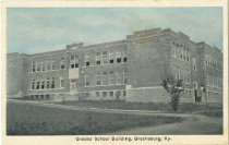 Image of Graded School Building, Greensburg, Ky. - Auburn Greeting Card Co.