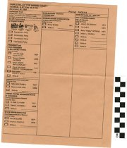 Image of Sample Ballot for Warren County 2008