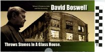 Image of Negative Ad: David Boswell throws a stone in a glass house...