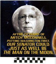 Image of McConnell is a man on the moon