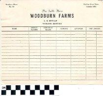 Image of Woodburn Farms letterhead