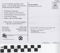 Image of BG Builders LLC postcard