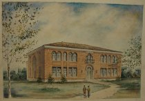 Image of Architectural rendering of Snelll Hall, WKU (detail view)