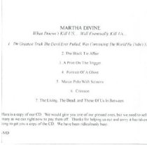 Image of Martha Divine CD cover