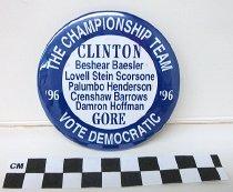 Image of Clinton/Gore/Beshear political button - Button, Political