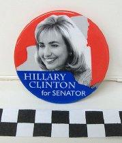 Image of Hillary Clinton political button - Button, Political
