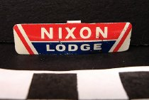 Image of Richard Nixon and Henry Cabot Lodge, Jr. political tab - Tab, Political