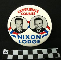 Image of 2009.194.293 - Richard Nixon and Henry Cabot Lodge, Jr. political button