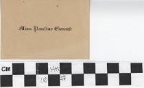 Image of Pauline Gerard Name Card