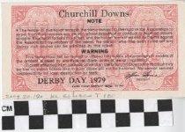 Image of 1979 Kentucky Derby Ticket