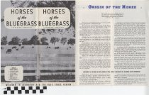 Image of Horses of the Bluegrass pamphlet