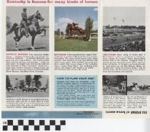 Image of Kentucky's Horse Farms pamphlet