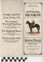 Image of 1926 Kentucky Derby Official Program