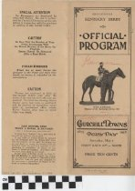 Image of 1938 Kentucky Derby Official Program