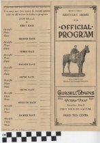 Image of 1937 Kentucky Derby Official Program