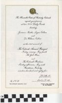 Image of The Colonels' Annual Banquet and The Colonels' Barbecue invitation