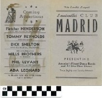 Image of Club Madrid Menu