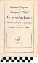 Image of Program of the Inagural Flight of Eastern Air Lines