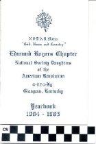 Image of NSDAR 1984-1985 yearbook