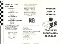 Image of Warren County Retired Teachers Association pamphlet