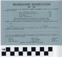 Image of Membership Reservation for Bowling Green Players' Guild