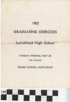 Image of 1963 Graduating Exercises, Leitchfield High School, Ky. [program] -