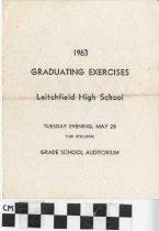 Image of Graduating Exercises program, 1963