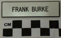 Image of Frank Burke Identification Tag