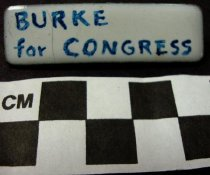 Image of Burke for Congress Tie Clip