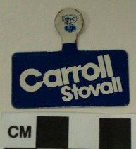 Image of 2009.218.306 - Julian Carroll political tab