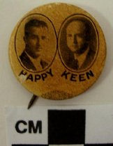 "Image of 2009.218.321 - Albert ""Happy"" Chandler and Keen Johnson political button"