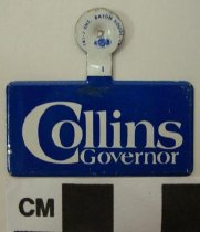 Image of 2009.218.324 - Martha Layne Collins political tab
