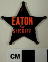 Image of 2009.218.345 - Chris Eaton politial tab