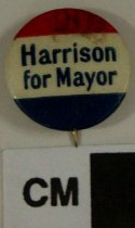 Image of 2009.218.356 - William B. Harrison political button
