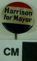 Image of 2009.218.357 - William B. Harrison political button