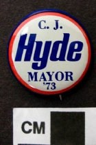 Image of 2009.218.370 - C. J. Hyde political button