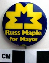 Image of 2009.218.377 - Russ Maple political button