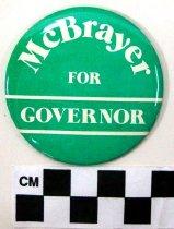 Image of Terry McBrayer political button - Button, Political