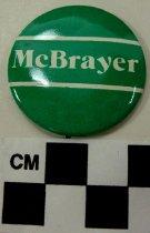 Image of 2009.218.380 - Terry McBrayer political button