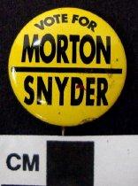 Image of Thruston B. Morton and Gene Snyder political button - Button, Political