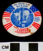 Image of Richard Nixon & J. C Carter political button - Button, Political