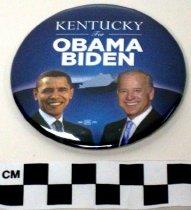 Image of Barak Obama political button - Button, Political