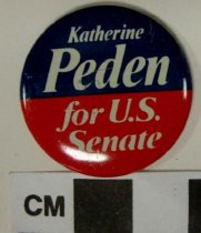 Image of 2009.218.396 - Katherine Peden political button