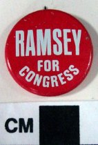 Image of Ramsey For Congress Political Button