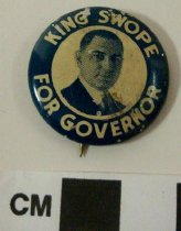 Image of 2009.218.421 - King Swope political button